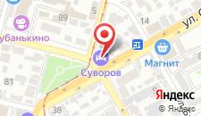 Отель Суворов на карте