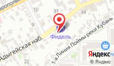 Отель Фидель на карте