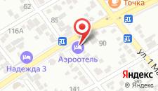 Гостиница Аэроотель Краснодар на карте