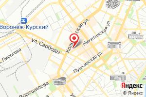Адрес Газпром, газораспределение Воронеж на карте