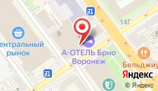 Отель А Отель БРНО на карте