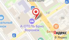 Отель АЗИМУТ Отель Воронеж на карте