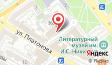 Отель Рамада Плаза Воронеж Сити Центр на карте