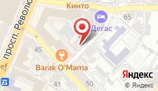 Гостиница Дегас Лайт на карте