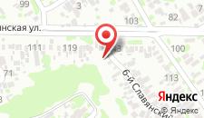 Гостиница Славянская на карте