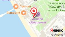 Гостиница Прибой на карте