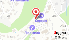 Отель Корсар на карте