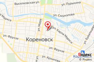 Адрес Газпром межрегионгаз, Участок в Кореновском р-не на карте
