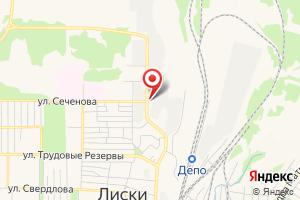 Адрес Газпром газораспределение Воронеж, филиал в г. Лиски на карте