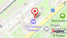 Гостиница Липецк на карте