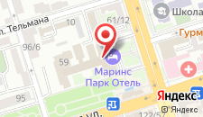 Отель Маринс Парк Отель Ростов-на-Дону на карте