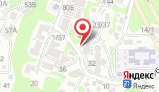 Апартаменты На Клубничной на карте