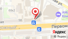 Гостиница Первомайская на карте