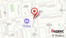 Гостиница Нор на карте