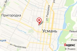 Адрес Усманский комплекс ОГУП Липецкоблводоканал, Южный филиал на карте