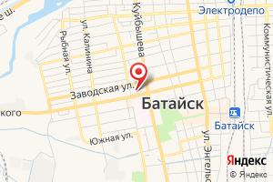 Адрес Газпром межрегионгаз Ростов-на-Дону, абонентский участок в г. Батайск на карте