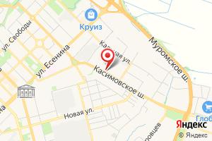 Адрес МП Водоканал города Рязани на карте