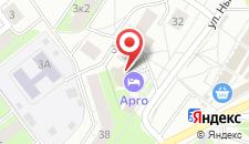 Отель АРГО на карте