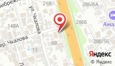 Отель Алые Паруса на карте
