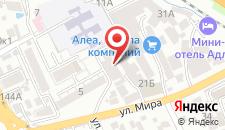 Гостиница Омск на карте