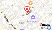 Гостиница Аркадия на карте