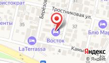 Отель Восток на карте