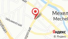 Отель NH Mechelen на карте