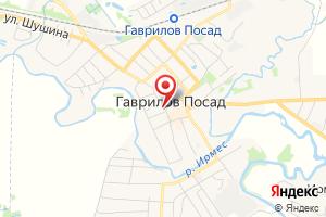 Адрес Газпром межрегионгаз Иваново, абонентский пункт в г. Гаврилов Посад на карте