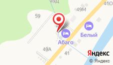 Отель Абаго на карте