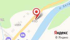 Гостиница Белая река на карте