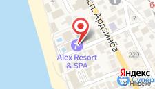 Отель Alex Beach на карте