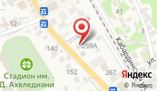 Гостевой дом Гагрипш на карте