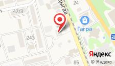 Гостиница Светлана на карте
