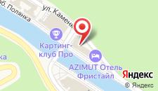 Гостиница AZIMUT FREESTYLE Rosa Khutor на карте