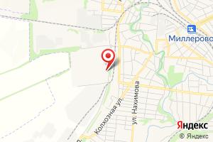 Адрес Газпром газораспределение Ростов-на-Дону, филиал в г. Миллерово на карте