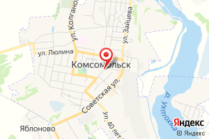 Адрес Газпром межрегионгаз Иваново, абонентский пункт в г. Комсомольск на карте