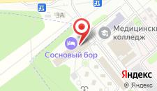 Гостиница Сосновый бор на карте