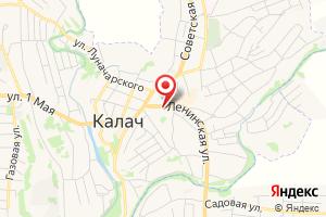 Адрес Газпром межрегионгаз Воронеж, Калачеевское обособленное структурное подразделение на карте