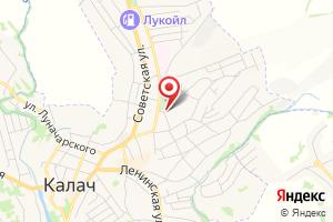 Адрес Газпром газораспределение Воронеж, филиал в г. Калаче на карте
