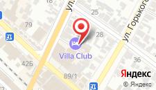 Гостиница Villa Club на карте