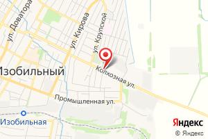 Адрес Газпром межрегионгаз Ставрополь, филиал в Изобильненском р-не на карте