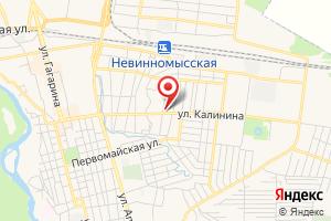 Адрес Газпром межрегионгаз Ставрополь, филиал в г. Невинномысске на карте