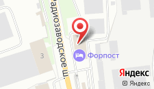 Гостиница Форпост на карте