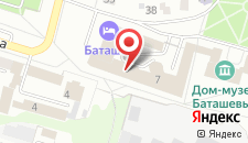 Гостиница Баташев на карте