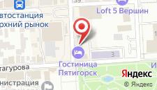 Гостиница Пятигорск на карте