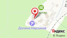 Санаторий Долина Нарзанов на карте