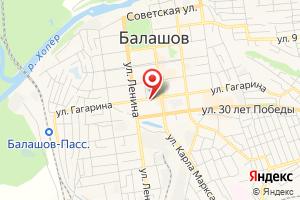 Адрес Газпром межрегионгаз Саратов, отделение по Балашовскому, Самойловскому и Романовскому районам на карте