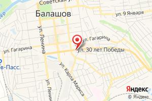 Адрес Газпром газораспределение Саратовская область, центр обслуживания населения в Балашовском районе Саратовской области на карте