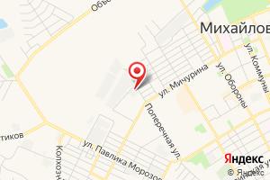 Адрес Газпром газораспределение Волгоград, филиал в г. Михайловке на карте