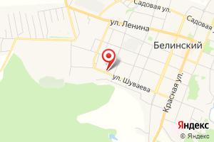 Адрес Газпром газораспределение Пенза, филиал в г. Каменке, Белинский эксплуатационный газовый участок на карте